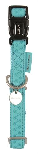 Macleather halsband blauw (25 MMX45-70 CM)