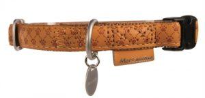 Macleather halsband bruin (25 MMX45-70 CM)