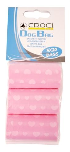 Croci poepzakjes roze met hartjes (3X20 ST)