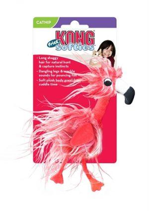 Kong kat softies frizz bird assorti (9,5X4,5X12,5 CM)