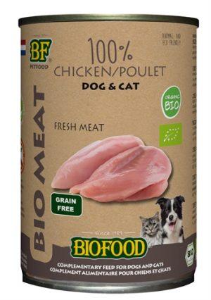 Biofood organic hond 100% kip blik (12X400 GR)