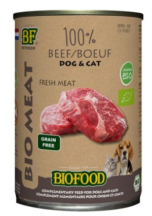 Biofood organic hond 100% rund blik (12X400 GR)