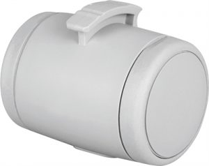 Flexi poepzak / snackbox lichtgrijs (5X5X7 CM)