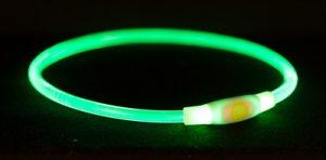 Trixie halsband usb flash light lichtgevend oplaadbaar groen (65X0,8 CM)