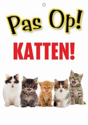 Waakbord nederlands kunststof katten (21X15 CM)