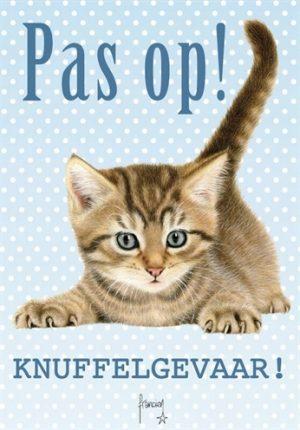 Waakbord kunststof franciens katten (21X15 CM)