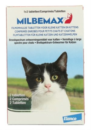 Milbemax tablet ontworming kleine kat/kitten (2 TABLETTEN)