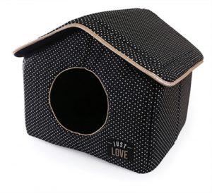 Martin sellier hondenmand kattenmand huis just love zwart (43X43X40 CM)