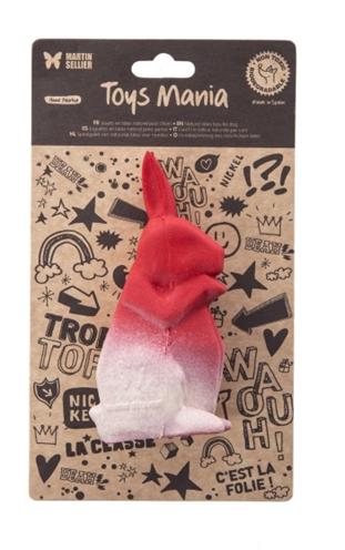 Martin sellier latex origami konijn rood (12,5 CM)