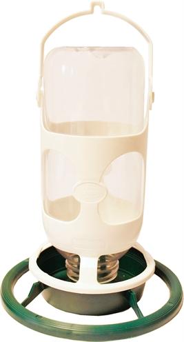 Plastic flesautomaat wijd groen / wit (26X18X18 CM)