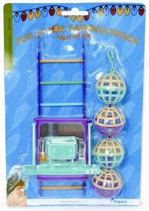 Happy pet bird toy mp bal/ladder/perch (22X10X4 CM)